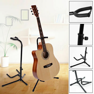 1 Pc Folding Electric Acoustic Bass Guitar Stand A-Frame Floor Rack Holder Black