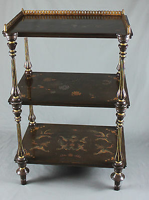 Chinese Lacquer Whatnot Display Shelves 19th Century