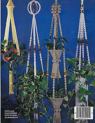 Beaded & Two-Tier Plant Pot Hanger Patterns in Modern Macrame Craft Book MM1191