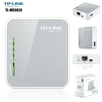 TP-Link Router 3G 4G Portatile Wireless N 150Mbps TL-MR3020