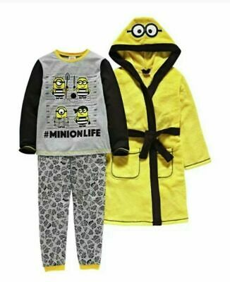 Bnwt  Minions Despicable Me 3 Pj And Robe  Set Age 5-6 Years And 7-8 Years