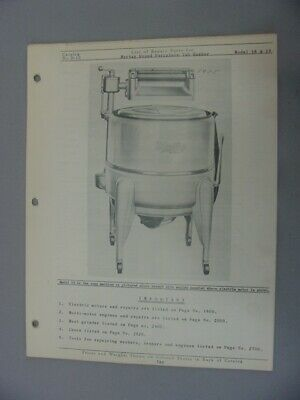Maytag 18 & 19 Round Porcelain Tub Washer Repair Parts List Manual
