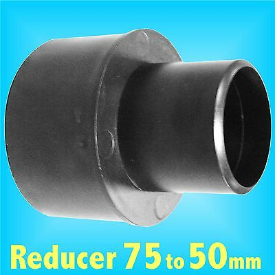 Reducer 75mm to 50mm for Dust Extraction Hose Charnwood SIP Record extractor