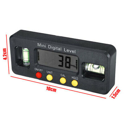 LCD Electronic Digital Angle Finder Meter Protractor Dual Spirit Level Prop Hot