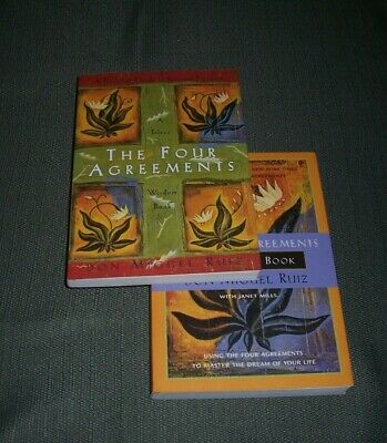 Lot 2 The Four Agreements+ Four Agreements Companion Books 1878424319; 187842431
