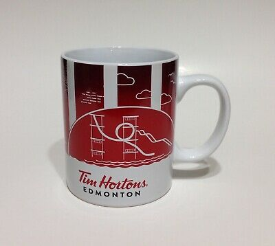 TIM HORTONS Coffee MUG ~ 2016 Traveller's Collection EDMONTON Canada ~ Series 1
