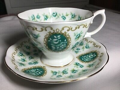 Royal Albert Bone China Cup/Saucer   Cameo Series- Memento Pattern