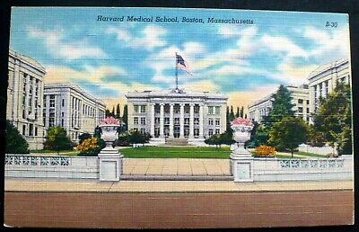 DB POSTCARD, HARVARD medical school, Admin Building, Boston