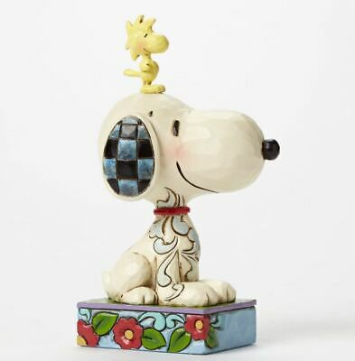 Jim Shore Peanuts My Best Friend Snoopy and Woodstock Pose Figurine 4044677 New