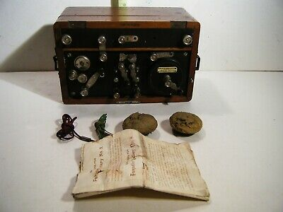 Antique 19c Faradic Battery, Shock Medical Device, Portable Double Cell Battery