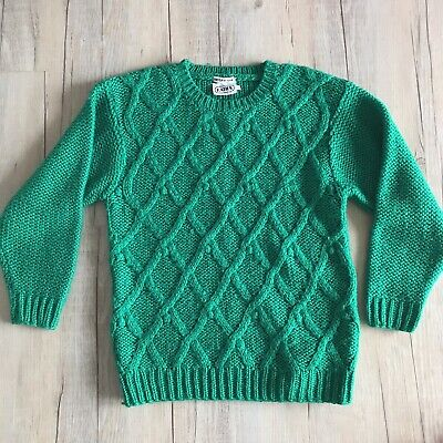 Ladies Vintage 80s Katies Cable Chunky Knit Jumper Size 12