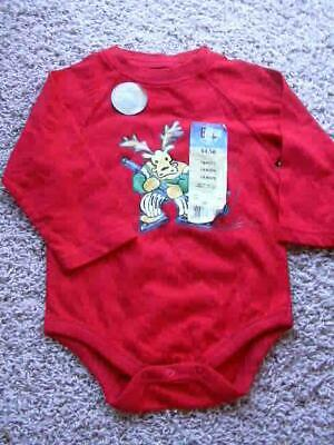 NEW Faded Glory Size 18 Months Moose Hockey Red One Piece T Shirt Top NWT