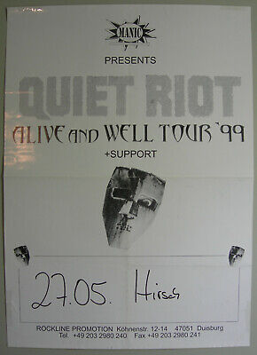 QUIET RIOT AT the Whisky A Go Go Gig Concert Poster (Randy Rhoads