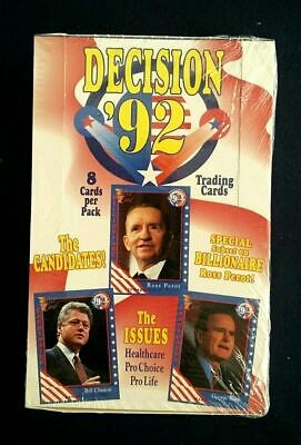 1992 AAA Decision '92 Trading Cards Sealed Box ~ Clinton~Bush~Perot ~ 36 Packs