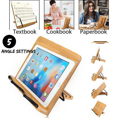 Portable Book Stand Bible Cookbook Music Book laptop Holder Folding Reading