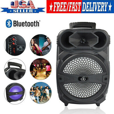 Portable Loud Speaker Portable 1000 W Bluetooth Wireless PA System With Lighting