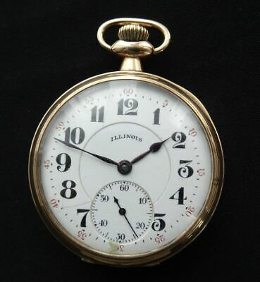 GOOD ANTIQUE, HIGH GRADE, ILLINOIS WATCH Co. USA, 19 JEWEL, GOLD/F POCKET WATCH