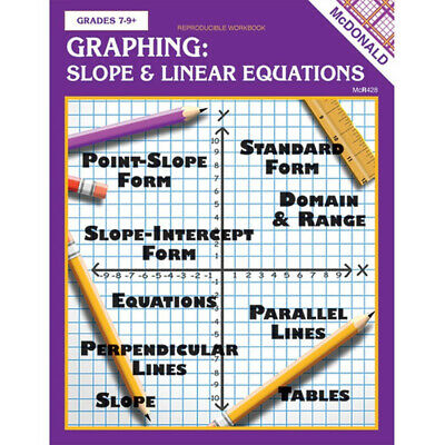 Teacher Created Resources - Graphing Slope & Linear Equations Repro Book Gr 7-9