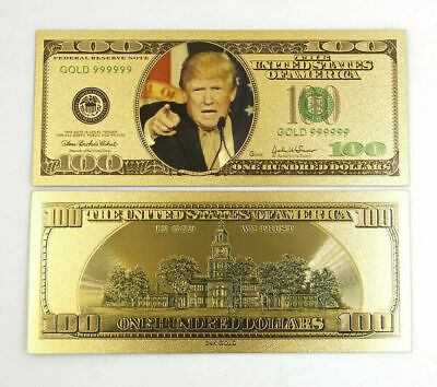 1pc $100 US Donald Trump Commemorative Coin President Banknote Non-currency