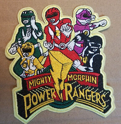 Power Rangers Logo embroidered Patch 4 1/2 inches Tall