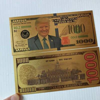 50pcs US Donald Trump Commemorative Coin President Banknote Non-currency $1000