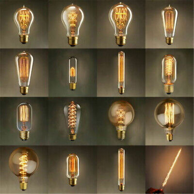E27 Screw 40W Vintage Antique Retro Style Light Filament Edison Lamp Bulb LO