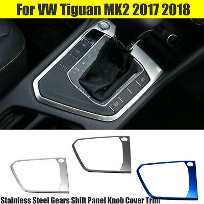Stainless Steel Gears Shift Panel Knob Cover Trim for VW Tiguan MK2 2017 2018 !