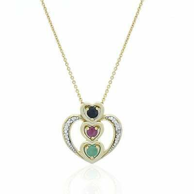 Glitzy Rocks Sterling Silver 18k Gold and Gemstone Heart