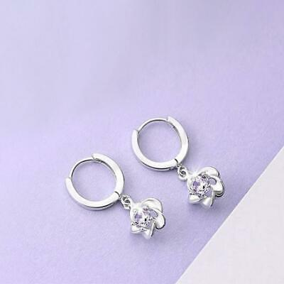 New Fashion Jewelry 925 Silver Charm Rhinestone Woman Earring Lover Gift 1 pair