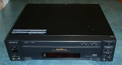 Sony MDP-600 CD / CDV / Laser Disc Player Black - FAST SHIPPING!