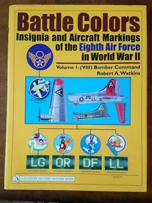 Battle Colors Volume 1 WWII World War Army Air Corp Force Book Watkins Bomber