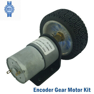 Wheel Motors Gear With Mounting Bracket DC 12V Encoder DC Motor