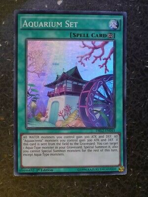 Aquarium Set Super Rare 1st Edition Yugioh Card DRL2-EN043