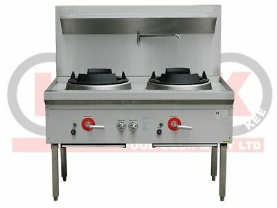 Two Hole Wok Table - 18 Jet Duckbill Burner - LKK-2B