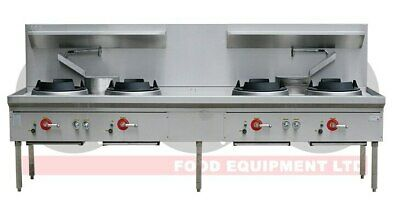 Four Hole Wok Table - 24 Jet Chimney Burner - LKK-4BC