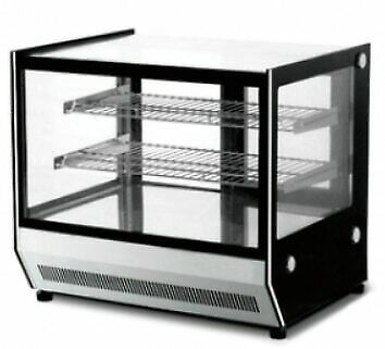 Counter Top Square Glass Hot Food Display 660mm Width - GN-660HRT