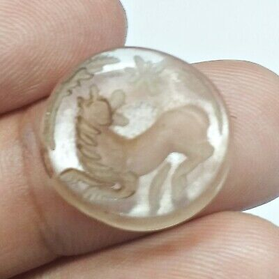Excellent Carnelian Crystal Stone Carve Horse Animal Roman Intaglio Stunning
