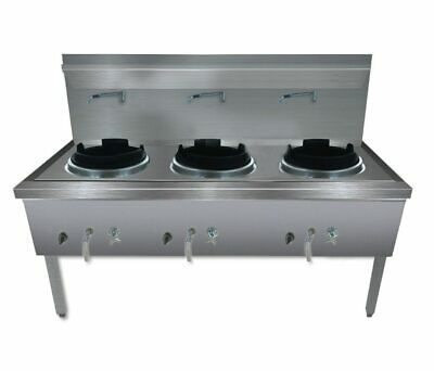 WW-3L Stainless Steel Waterless LPG Gas Triple Wok