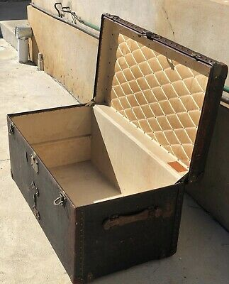 Genuine Antique French Louis Vuitton Steamer Trunk LV Collector's Dream