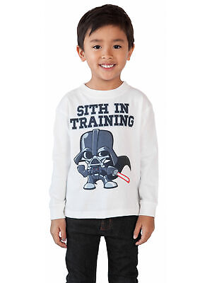 Boys Toddler Star Wars Darth Vader Long Sleeve Cotton Shirt