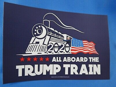 Wholesale Lot Of 10 All Aboard The  Trump Train 2020 Stickers President Usa Flag