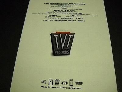 SNOOP DOGG Sevendust XTC Nashville Pussy others 2000 PROMO POSTER AD mint cond