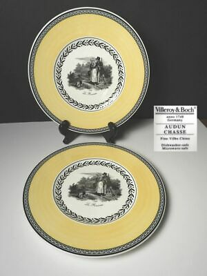 Villeroy & Boch AUDUN Chasse Bread Plates, Set of 2, Mint