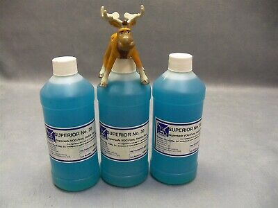 Organic Soldering Halide Flux 30 Superior Blue Lot of 3 pints/bottles