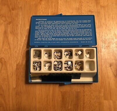 Vintage, General Electric, X-RAY Film Markers; Milwaukee, Wisconsin