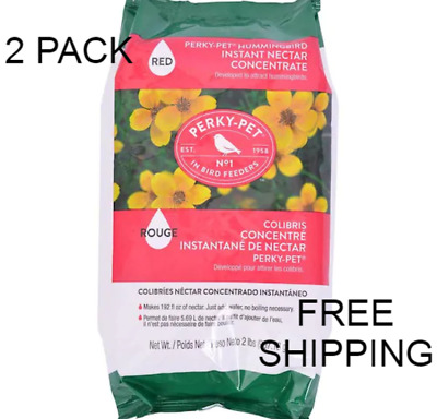 Hummingbird Nectar Concentrate Bird Food Perky Pet Instant Feed Mix 32-Oz 2 PACK
