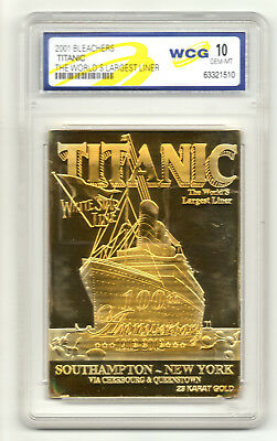 TITANIC 24Kt Gold Card Ship Boat Disater Tragedy Cruise Liner Steam Sailor Navy