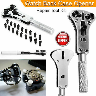 Watch Back Case Removal Tool Wrench Screw Case Opener Kit For Watchmaker UK