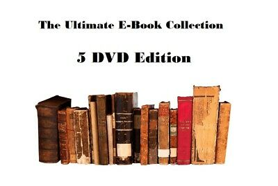 120,000 eBooks Collection KINDLE 1789 - 2019 HUGE COLLECTION on 5 DVDs
