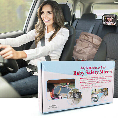 Clear Baby Mirror Back Car Seat Cover Infant Child Toddler Rear Ward Safety View